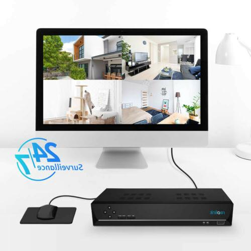 PoE Wired Security IP Camera System 4MP NVR 3TB Cameras