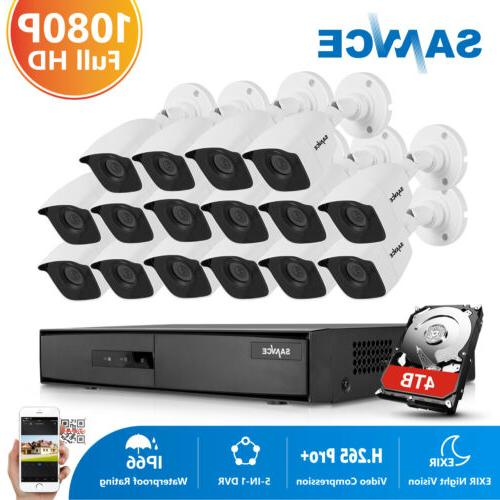 5in1 16ch security camera system 1080p hdmi