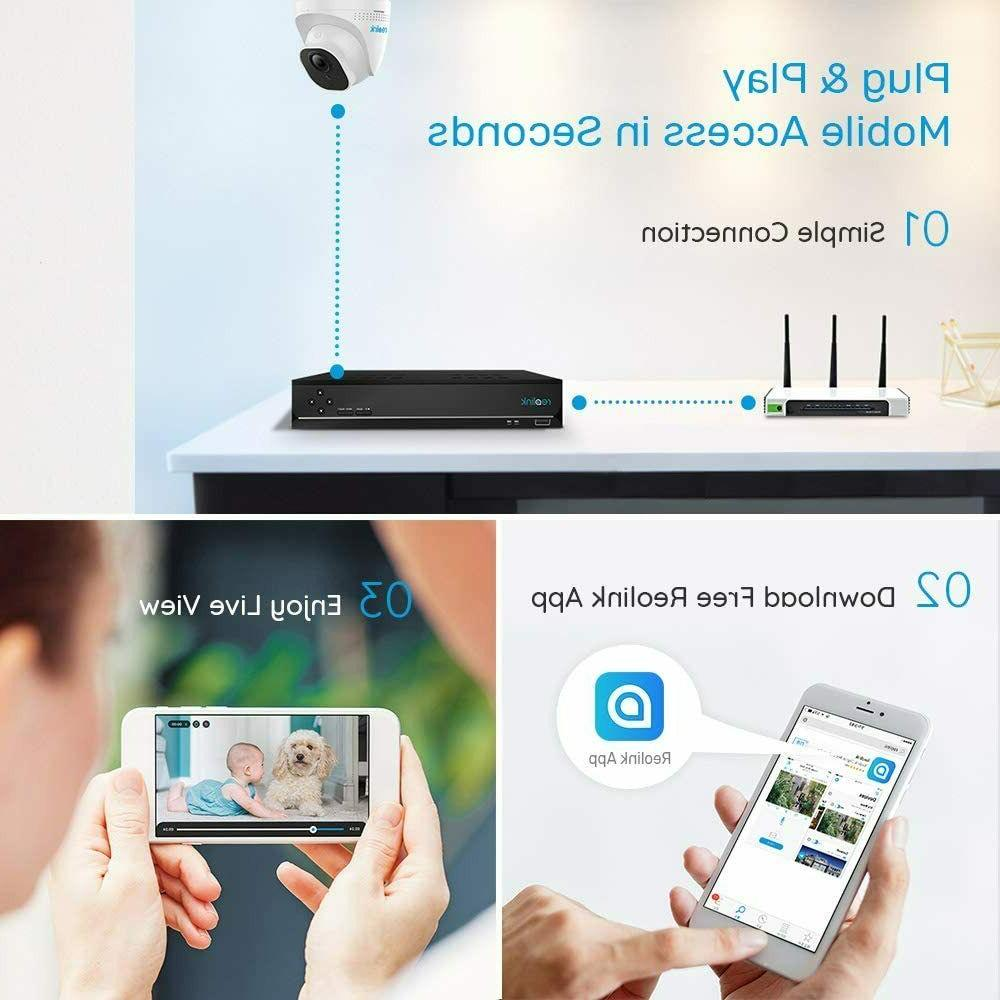 Reolink 8CH Home Security 4pcs