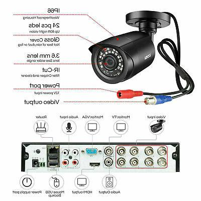 ZOSI 8CH 5MP Lite DVR Surveillance Security System