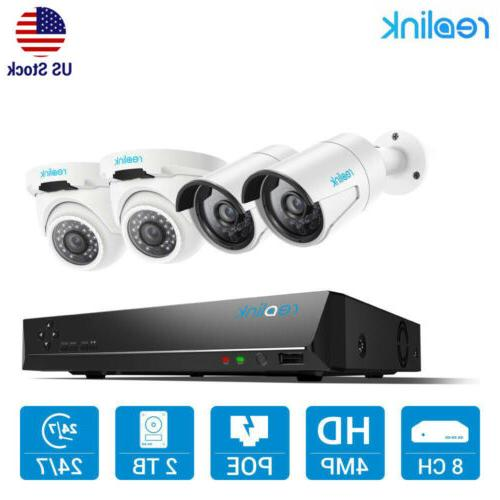 8ch ip 4mp security camera system poe