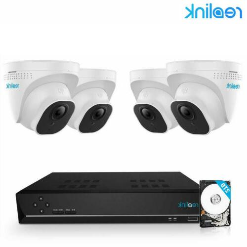 8ch poe hd 5mp security camera system