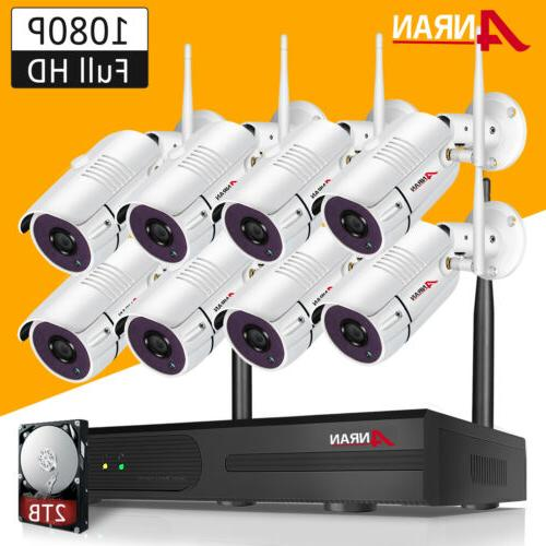 8ch wireless security camera system 1080p outdoor