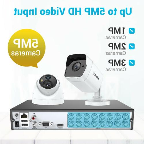 ANNKE 16CH Video Security Camera System Outdoor H.265+