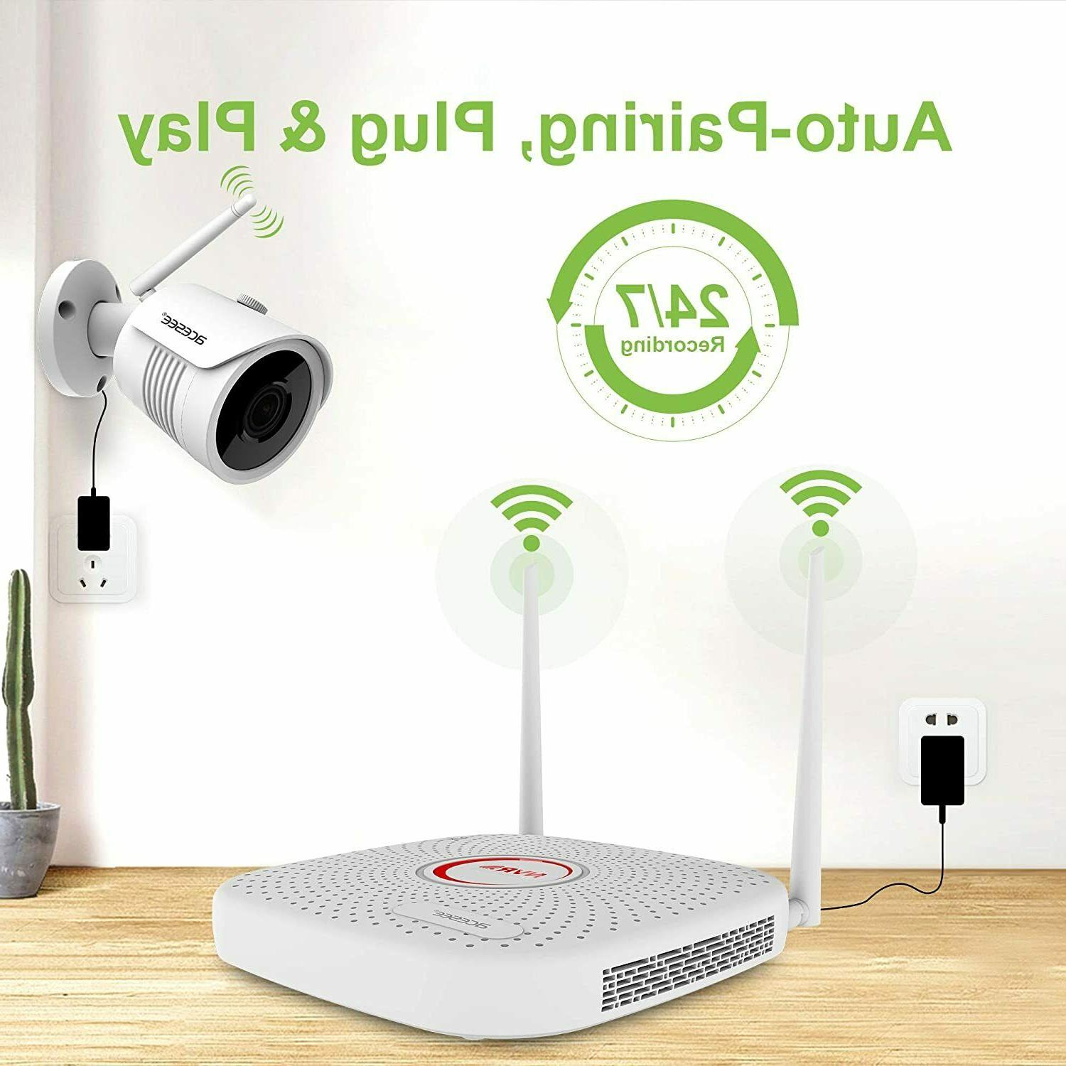 Home Security System 1080P or CH WIFI NVR WD 1TB HDD