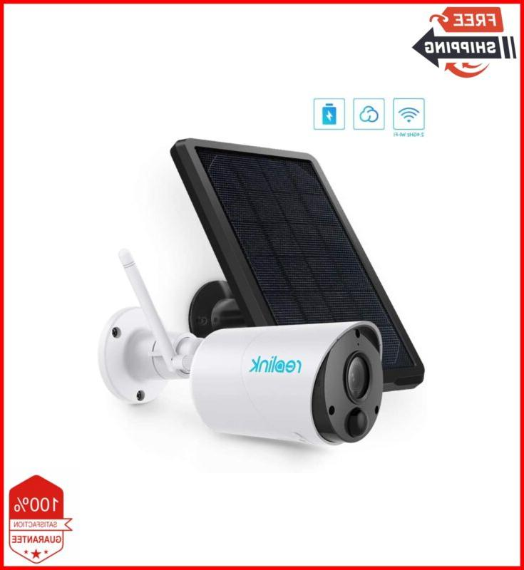 outdoor security camera system wireless solar battery