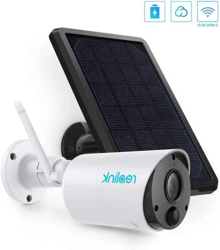 outdoor security camera system wireless solar 1080p