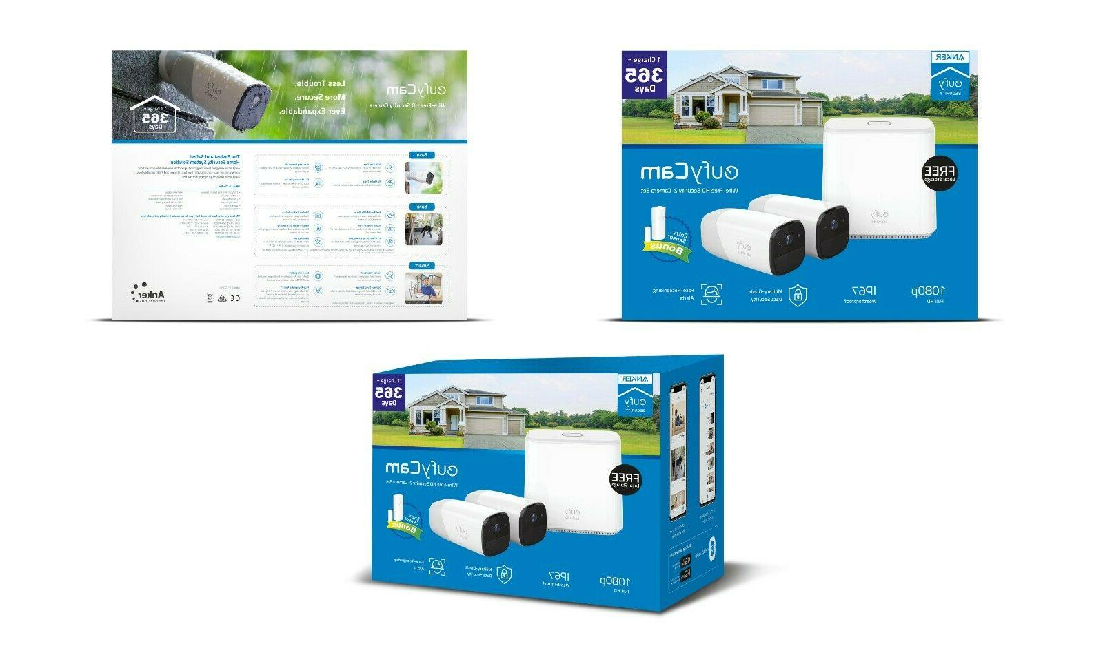 Wireless Home Security Camera System with