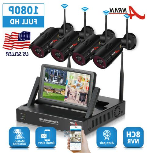 wireless outdoor security camera system 1080p home