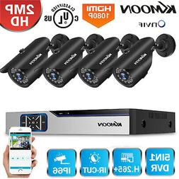 LOT KKMoon 4/8CH DVR 1080P CCTV Outdoor Security Camera Syst