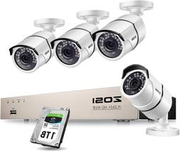 Zosi Poe Home Security Camera System,H.265+ 8Channel 5Mp Cct