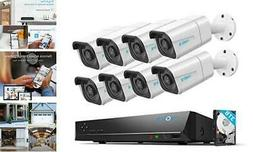 Reolink 4K 16CH PoE Security-Camera-System H.265, 8pcs 8MP P