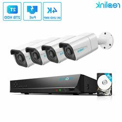Reolink RLK8-800B4 4K 8MP POE Security Camera System IP Wire