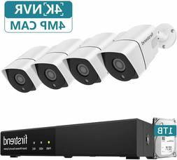 Security Camera System 4 Cameras 5MP 8CH NVR with 1TB Hard D