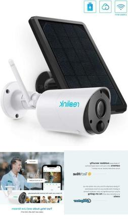Security Camera System Wireless Powered Solar Battery 2 Way