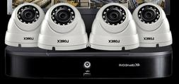 LOREX Security Camera System with 8 Channel 4K DVR, 4 1080p