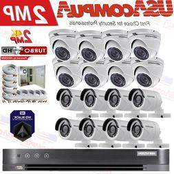 Hikvision Security System 16 CH 16 Bullet & Dome Camera 1080