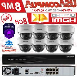 Hikvision Security System NVR KIT 8CH Channel 4K 4MP Dome PO