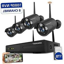 SMONET 2020 Security Camera System Wireless,8-Channel 1080P