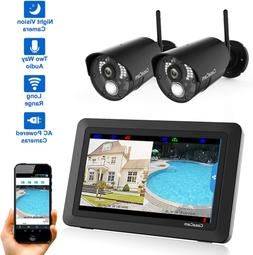 vs802 wireless security camera system with 7