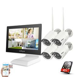 """SANNCE Wireless 10.1"""" Monitor 1080p NVR 1TB In/Outdoor IP Se"""