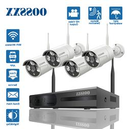 Wireless CCTV Camera System 8CH NVR and 4 960/720P Outdoor W