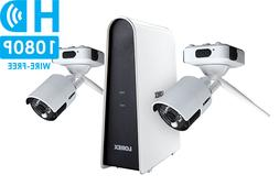 Wireless Security Camera System 1080p 2 Rechargeable Camera,