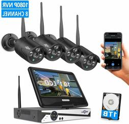 """Wireless Security Camera System with Audio,10.1"""" LCD Monitor"""