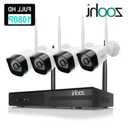 ZooHi Wireless Security Home 1080P Camera System Outdoor 8CH