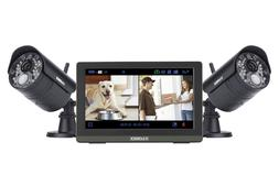 """LOREX Wireless Security System w/ 2 Cameras & 7"""" LCD Touchsc"""