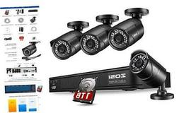 ZOSI 1080p H.265+ PoE Home Security Camera System Outdoor In