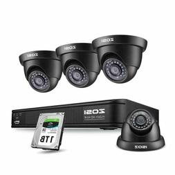 Zosi 1080P H.265+ Poe Security Camera Systems Outdoor Indoor